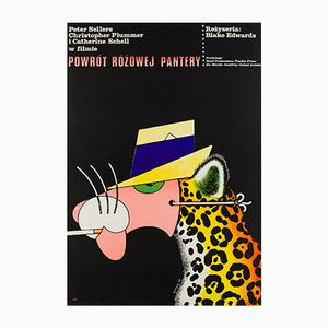 Polish The Return of the Pink Panther Film Poster by Edward Lutczyn, 1977
