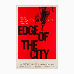 Vintage Edge of the City Film Poster by Saul Bass, 1957