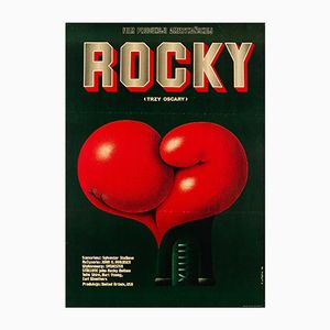 Polnisches Vintage Rocky Filmplakat von Edward Lutczyn, 1978