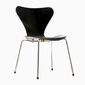 Schwedischer Schwarzer Modell 3107 Butterfly Stuhl von Arne Jacobsen für Fritz Hansen, 1950er