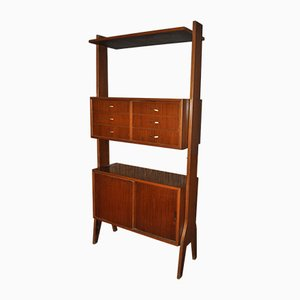 Vintage French Bookcase, 1950s