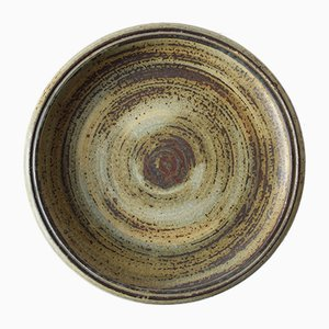 Mid-Century Danish Circular Dish with Sung Glaze by Carl Hallier for Royal Copenhagen, 1960s