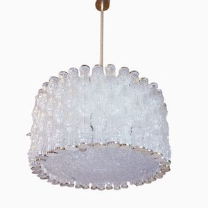 Large German Drum Ceiling Lamp with Tubular Glass from J.T. Kalmar, 1960s