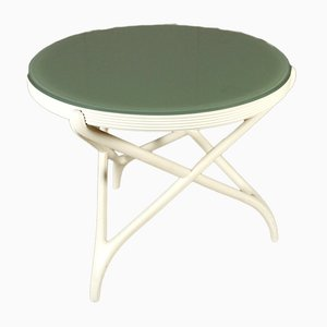 Vintage Lacquered Wood and Glass Table, 1950s
