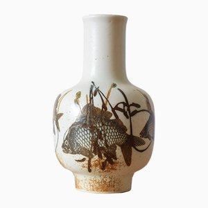 Dänische Diana Vase mit Fisch Motiv von Nils Thorsson für Royal Copenhagen, 1970er