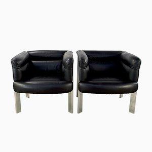 SC20 Armchairs by Marco Zanuso for Poltrona Frau, 1970s, Set of 2