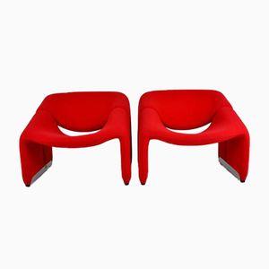 F 598 Groovy Stühle von Pierre Paulin für Artifort, 1970er, 2er Set