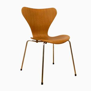 3107 Oak Side Chair by Arne Jacobsen for Fritz Hansen, 1980s