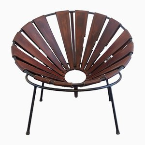 Chaise Bowl en Cuir par Lina Bo Bardi, 1950s