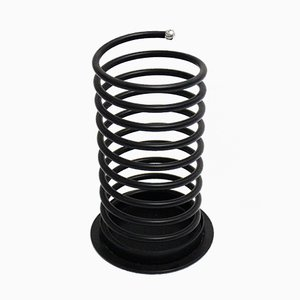 Black Spiral Shaped Umbrella Stand, 1980s