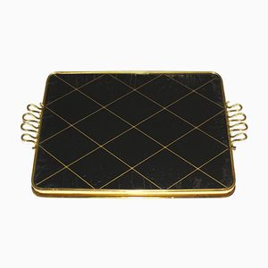 Italian Glass and Brass Tray