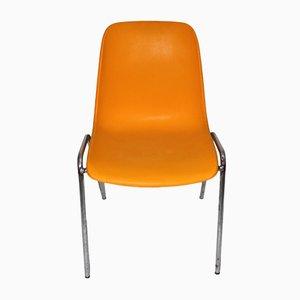 Vintage Orange Side Chair, 1970s