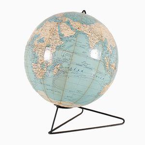 Globe Vintage sur Support en Métal