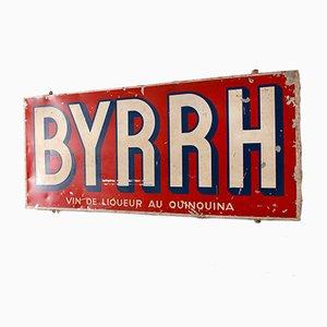 Insegna pubblicitaria vintage per Byrrh, 1956