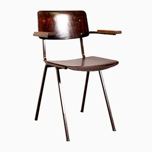Rosewood Chair with Wooden Armrests