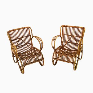 Rattan Chairs from Rohé Noordwolde, Set of 2