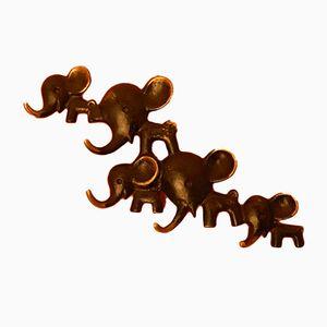Elefantengruppe Wandhaken von Walter Bosse