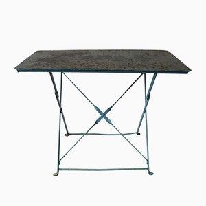 Tavolo da giardino industriale in acciaio, Belgio
