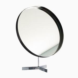 British Large Black and Chrome Tripod Mirror from Durlston Designs, 1960s
