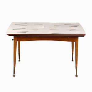 Adjustable Formica and Wood Table