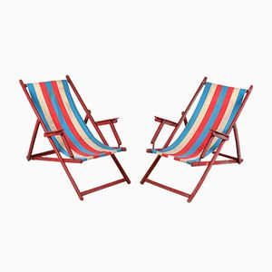 Striped Deckchairs, Set of 2