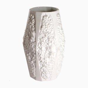 Vase Mid-Century Blanc Mat en Porcelaine
