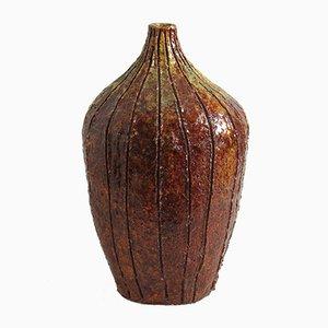 Vase Mid-Century Marron en Céramique