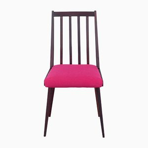 Mid-Century Hungarian Side Chair with Pink Upholstery