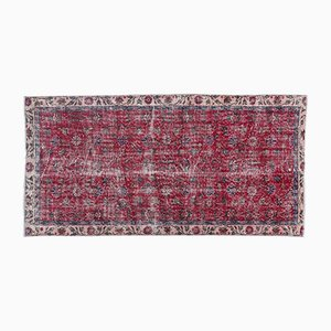 Red & Pink Overdyed Rug, 1960s