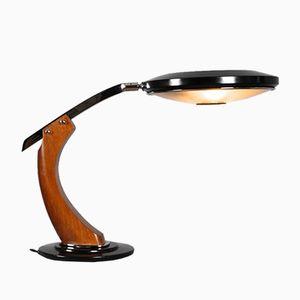 Mid-Century President Schreibtischlampe aus Holz & Metall von Fase