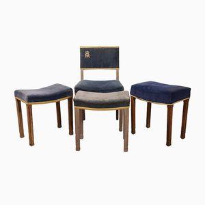 ER II Coronation Chair & Stools, 1953