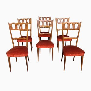 Dining Chairs by Paolo Buffa, 1950s, Set of 6
