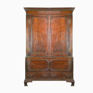 Antique Georgian Oak Livery Cupboard