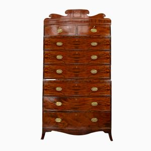 Antique Mahogany Bow Front Chest