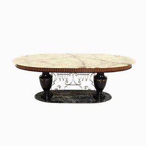 Portoro Marmor & Onyx Tisch, 1950er