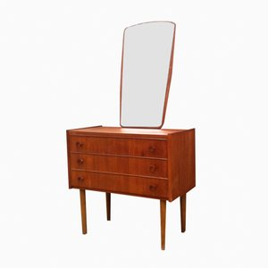 Danish Mid-Century Teak Chest of Drawers & Mirror, 1960s