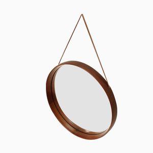 Swedish Round Mirror by Uno & Östen Kristiansson for Luxus, 1950s