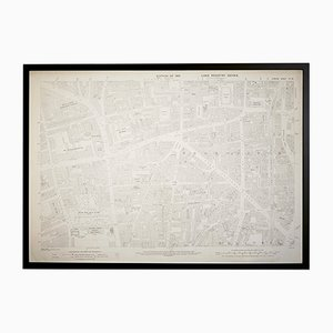 Mappa vintage Ordnance Survey di Hoxton, Londra