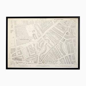 Mappa vintage Ordnance Survey di Brompton, Londra