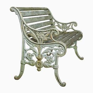 Cast Iron and Timber Garden Bench, 1900