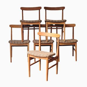 Teak Dining Chairs from Steiner, 1960s, Set of 6
