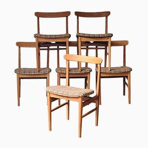 Teakholz Esszimmerstühle von Steiner, 1960er, 6er Set