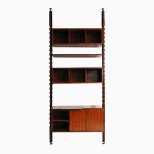 Italian Shelf with Rotating TV Stand, 1960s