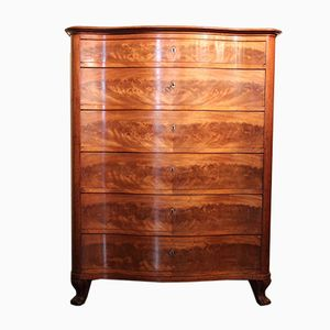 Antique French Mahogany Serpentine Dresser