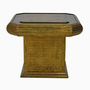 Etched Copper and Mirror Plated Side Table by Rodolfo Dubarry, 1970s