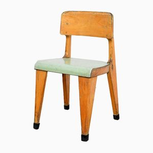 Children's Chair with Green Seat, 1950s
