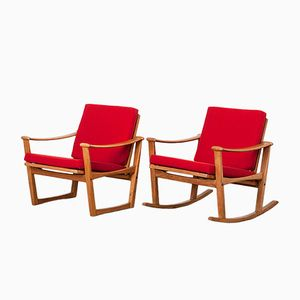 Dutch Rocker and Easy Chair by Finn Juhl for Pastoe, 1960s, Set of 2