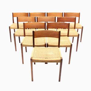 Pia Chairs Mid-Century par Poul Cadovius pour Cado, Set de 10