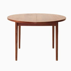 Round Extendable Teak Table from Hugo Troeds, 1960s