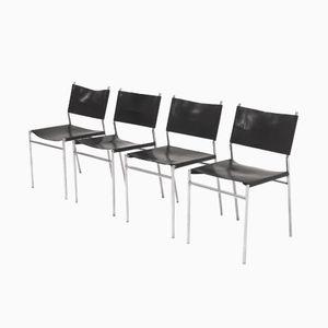 Leder SE06 Esszimmerstühle von Martin Visser für 't Spectrum, 1960er, 4er Set